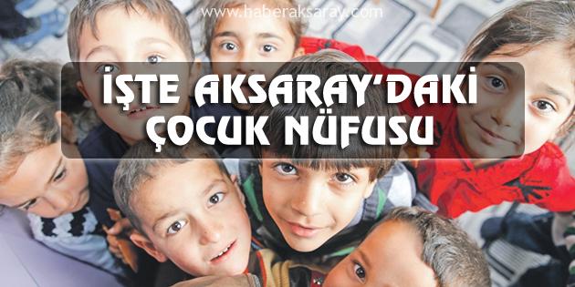 İşte Aksaray'daki çocuk nüfusu