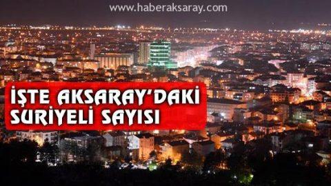Aksaray'daki Suriyeli sayısı açıklandı!