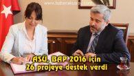 ASÜ, BAP 2016 için 26 projeye destek verdi