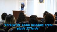 Türkiye'de kadın istihdam oranı yüzde 27'lerde