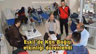 Eskil'de Kan Bağışı etkinliği düzenlendi