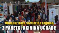 Olumsuz hava şartlarına rağmen Aksaray fuara koştu
