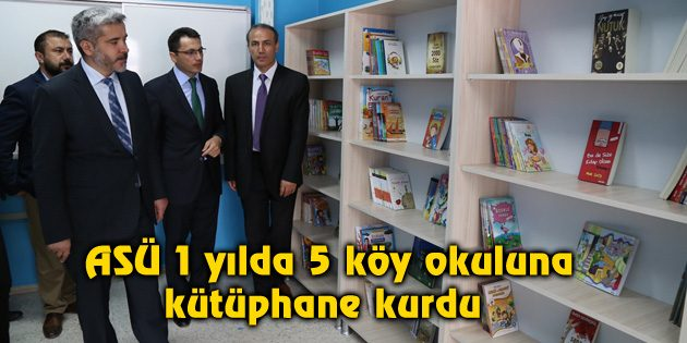 ASÜ 1 yılda 5 köy okuluna kütüphane kurdu