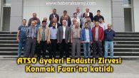 ATSO üyeleri Endüstri Zirvesi Konmak Fuarı'na katıldı
