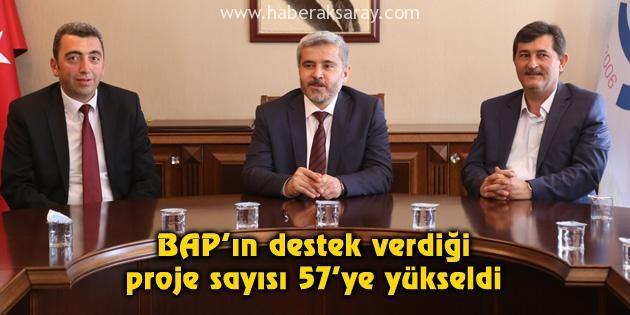 BAP'ın destek verdiği proje sayısı 57'ye yükseldi