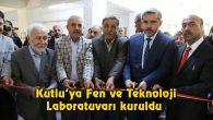 Kutlu'ya Fen ve Teknoloji Laboratuvarı kuruldu