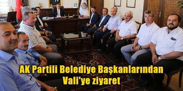 AK Partili Belediye Başkanlarından Vali'ye ziyaret