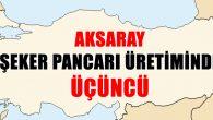 Aksaray şeker pancarı üretiminde Türkiye üçüncüsü