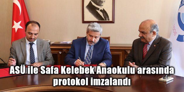 ASÜ ile Safa Kelebek Anaokulu arasında protokol imzalandı