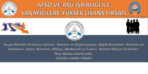 ATSO üyelerine Yüksek Lisans fırsatı