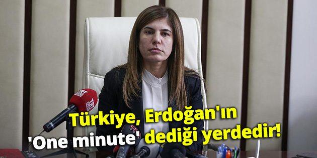 İlknur İnceöz: Türkiye, Erdoğan'ın 'One minute' dediği yerdedir