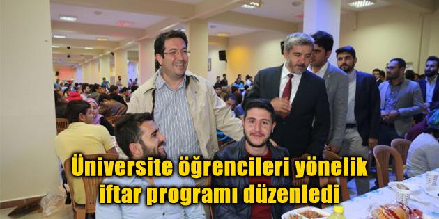 Üniversite öğrencilerine yönelik iftar programı düzenledi
