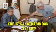 Kopuz Sanatkârı Hamza Ali Akgün Vali Pekmez'i ziyaret etti