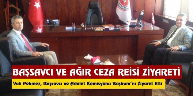 Başsavcı ve Adalet Komisyonu Başkanı ziyareti