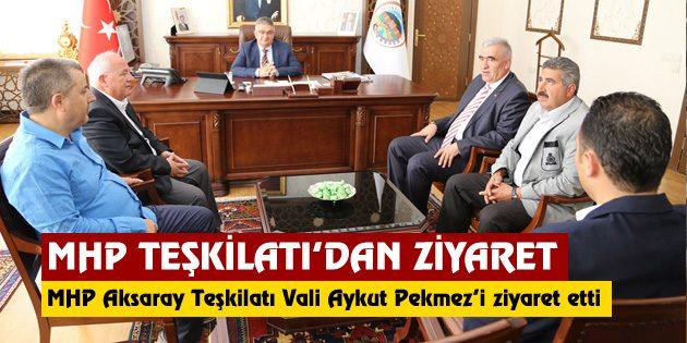 MHP Aksaray Teşkilatı Vali Pekmez'i ziyaret etti