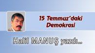 15 Temmuz'daki Demokrasi