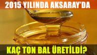 Aksaray'da 237 ton bal üretildi
