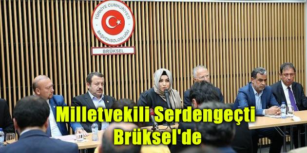 Milletvekili Serdengeçti Brüksel'de