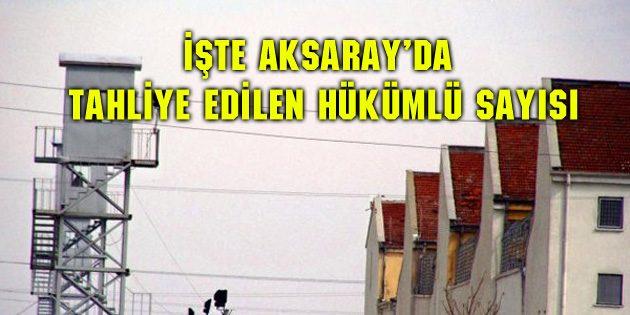 İşte Aksaray'da tahliye edilen hükümlü sayısı