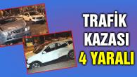 3 aracın çarpıştığı kazada 4 kişi yaralandı
