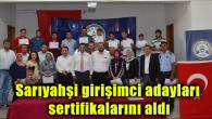 Sarıyahşi girişimci adayları sertifikalarını aldı