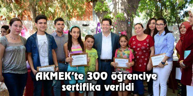AKMEK'te 300 öğrenciye sertifika verildi