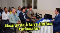 Aksaray'da İtfaiye Haftası kutlamaları