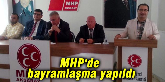 MHP'de bayramlaşma yapıldı