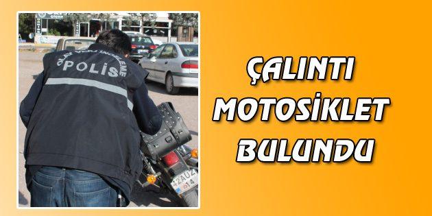 Çalıntı motosiklet bulundu