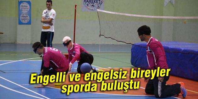 Engelli ve engelsiz bireyler sporda buluştu
