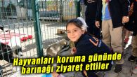 Öğrencilerden hayvan barınağına ziyaret