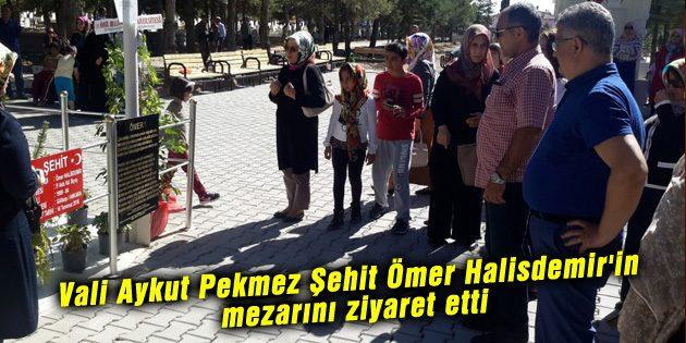 Vali Aykut Pekmez Şehit Ömer Halisdemir'in mezarını ziyaret etti