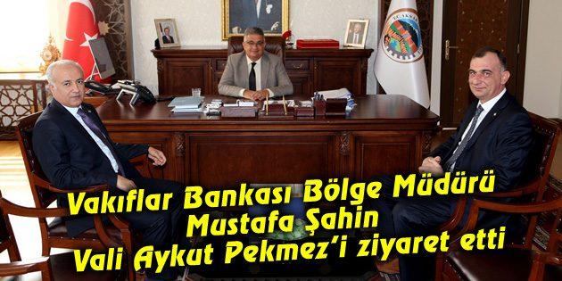 Vakıflar Bankası Bölge Müdürü Vali Pekmez'i ziyaret etti