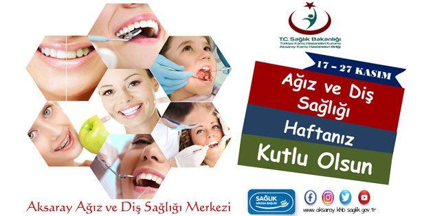 Toplum Ağız Diş Sağlığı Haftası kutlu olsun