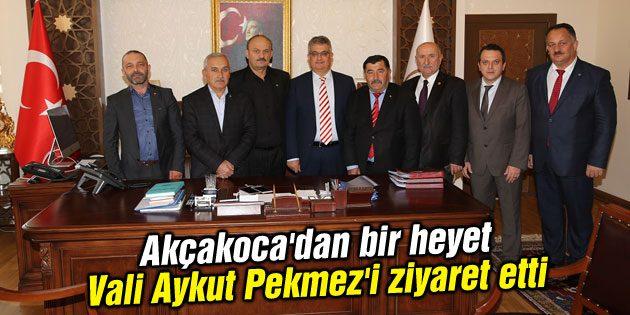 Akçakoca'dan bir heyet Vali Aykut Pekmez'i ziyaret etti