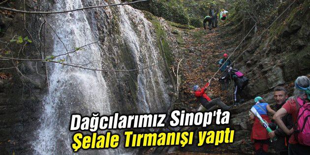 Dağcılarımız Sinop'ta Şelale Tırmanışı yaptı