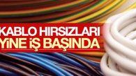 Aksaray'da telefon kablosu hırsızlığı