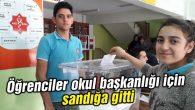 Aksaray'da öğrenciler okul başkanlığı için sandığa gitti