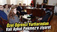 Özel Öğrenci Yurtlarından Vali Aykut Pekmez'e ziyaret