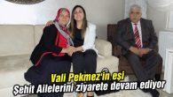 Vali Pekmez'in eşi Şehit Ailelerini ziyarete devam ediyor