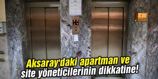 Apartman ve site yöneticilerinin dikkatine