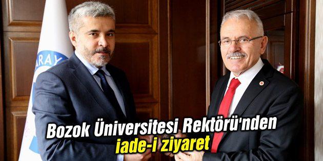 Bozok Üniversitesi Rektörü'nden iade-i ziyaret