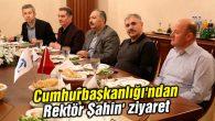 Cumhurbaşkanlığı'ndan Rektör Şahin'e ziyaret