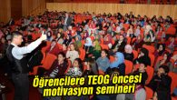 Öğrencilere TEOG öncesi motivasyon semineri