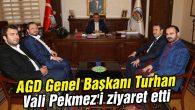 AGD Genel Başkanı Turhan Vali Pekmez'i ziyaret etti