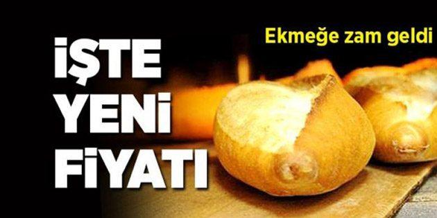 Aksaray'da ekmeğe zam geldi!