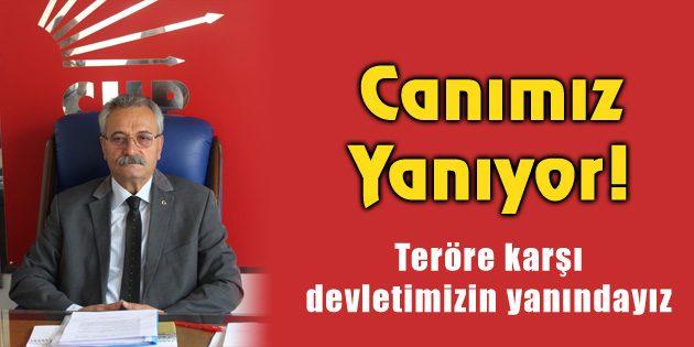 CHP İl Başkanı Toprak: Canımız yanıyor