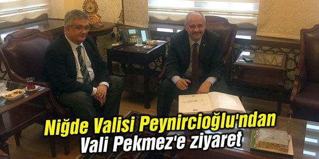 Niğde Valisi Peynircioğlu'ndan Vali Pekmez'e ziyaret