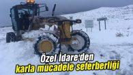 Özel İdare'den karla mücadele seferberliği