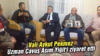Vali Aykut Pekmez Uzman Çavuş Asım Yiğit'i ziyaret etti